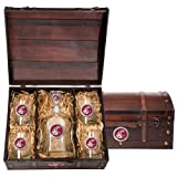 Washington State Cougars Capitol Decanter Wood Chest Set