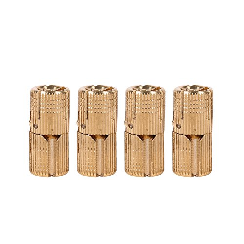 Gold Box Hinge - Zerodis 4pcs/pack Brass Hidden Concealed Hinge Invisible Barrel Hinge for DIY Jewelry Box Hand Craft Gold(10mm)
