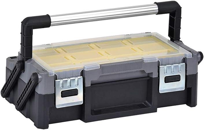 Organizador de Herramientas Caja de herramientas plegable multicapa Caja de almacenamiento portátil multifunción con caja de piezas desmontable independiente y mango de aleación for herramientas de re: Amazon.es: Hogar
