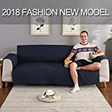 YESHOME Sofa Cover slipcovers-Quilted Upgrade Anti-slip Couch Covers-Waterproof Sofa Protector With Elastic Strap-Furniture Cover For Dogs Pet (Sofa Oversized, Navy-Beige)