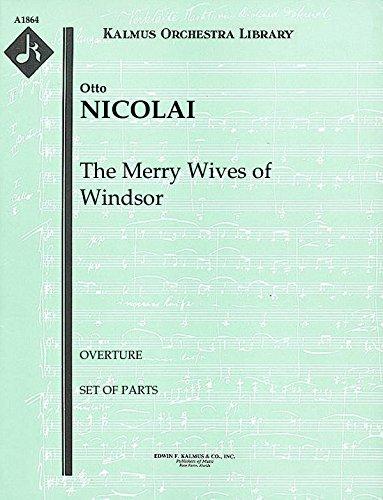 Overture Set - The Merry Wives of Windsor (Overture): Set of Parts [A1864]