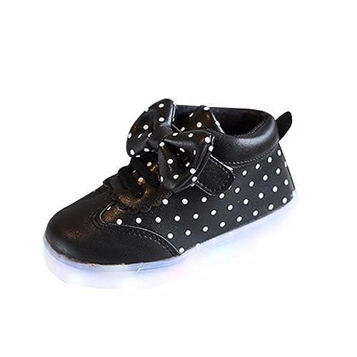 K-youth® Zapatillas Bebe Niña Zapatos Bebe Niñas LED Luz Luminosas Flash Zapatos Zapatillas