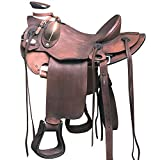 HILASON WD085OLSTNWALBK 15'' BIG KING SERIES WESTERN WADE RANCH ROPING COWBOY HORSE SADDLE