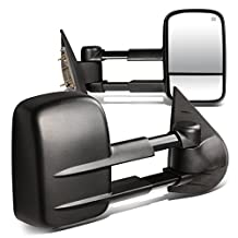 Chevy/GMC GMT900 Pair of Power + Heated Manual Folding Towing Side Mirror (Black)