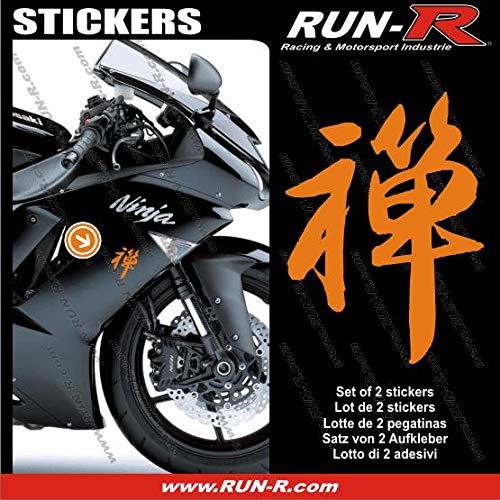 ADN-Auto ADNAuto 09329 2 Adhesivos Kanji Zen 16 cm-Orange ...