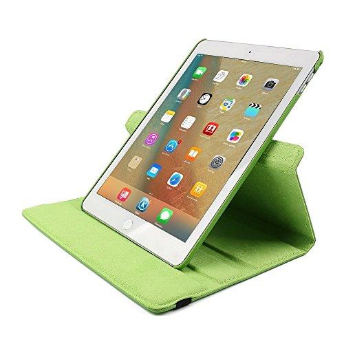 Smart Case für iPad 4 Hülle Case, elecfan® 360 Grad rotierend Kunstleder Schutzhülle Tasche Etui Smart Cover mit Auto Schlaf / Wach, Standfunktion, für iPad 2/3/4 (iPad 2/3/4, Braun) Grün