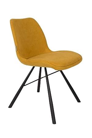 Zuiver Lot de 2 chaises Tissu Brent Couleur - Jaune Moutarde: Amazon ...