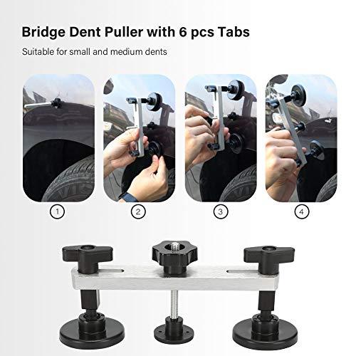 BBKANG Paintless Dent Repair Tools - Car Dent Removal Kit Golden Dent Lifter Bridge Dent Puller Kit Safe Glue Sticks Pops a Dent Tool for Car Dent Door Ding Hail Dent Remover Repair by BBKANG (Image #2)