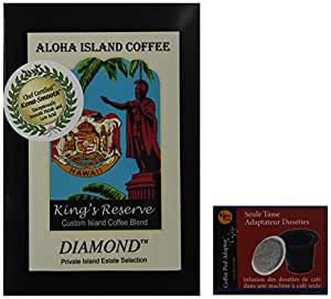 Free Pod Adapter for Keurig When You Purchase Kona Smooth Diamond Coffee Pods, 18 Pods and One Adapter