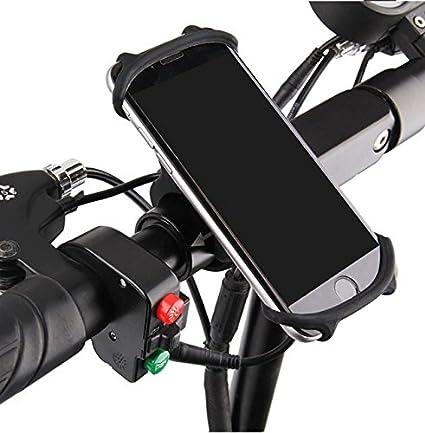 Amazon Com Bike Phone Mount Silicone Adjustable Bicycle Phone