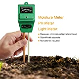 MacDoDo 3-in-1 Soil Moisture Meter, PH acidity and Light Tester, Plant Soil Tester Kit, Great For Garden, Farm, Lawn, Indoor & Outdoor (No Battery needed) Review