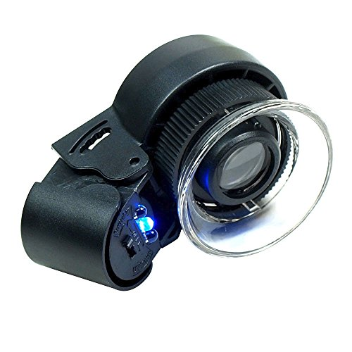 Coin Flip Hat (45X Lighted Magnifier Jewelers Loupe Built-in LED)