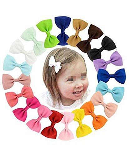 10PCS Multi-Color Baby Girls Dot Hair Bows Hair Alligator Clips in Hair Barrette for Baby Girls (Color Random)