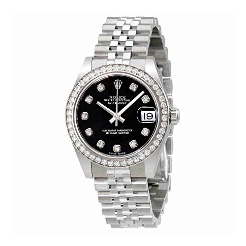 Rolex Datejust Lady 31 Black Dial Stainless Steel Rolex Jubilee Automatic Watch 178384BKDJ