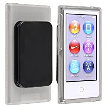 Everydaysource Compatible With Apple iPod nano 7th Generation Clear TPU Rubber Skin Case with Belt Clip