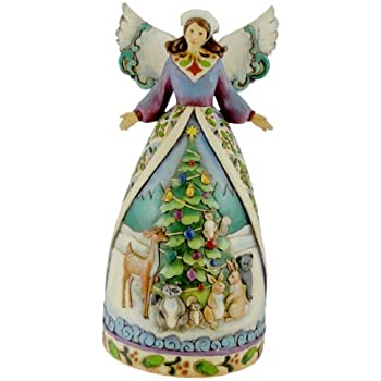 Jim Shore Christmas For All Great And Small Angels Animals Stone Resin 10 75 In