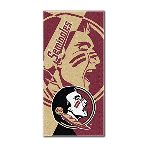 The Northwest Company Officially Licensed NCAA Florida State Seminoles Puzzle Beach Towel, 34