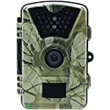 Sumpple 12MP 1080P Trail Camera and Hunting Wildlife Camera with 24LEDs, Motion Sensor, Low Glow Infrared Night Vision 65ft, IP66, 2.36' LCD for Wildlife Monitoring, Surveillance, Home Security