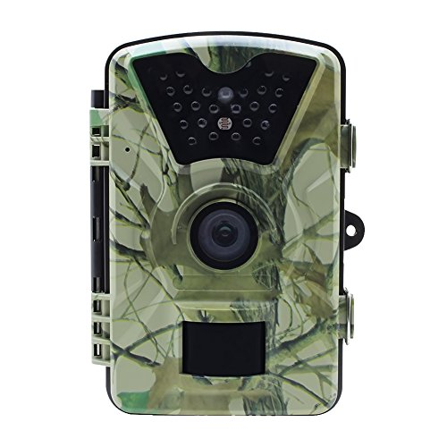 Sumpple 12MP Trail Camera and Hunting Wildlife Camera with 24LEDs, Motion Sensor, Low Glow Infrared Night Vision 65ft, IP66, 2.36