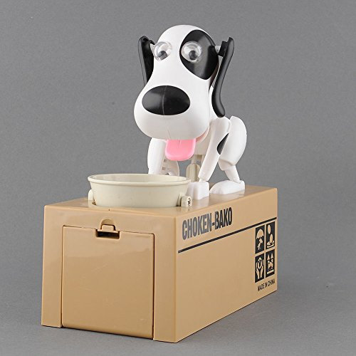 HOT Choken Hungry Eating Dog Kids Coin Bank Money Saving Box Piggy Bank Present (Halloween Stores In Nh)