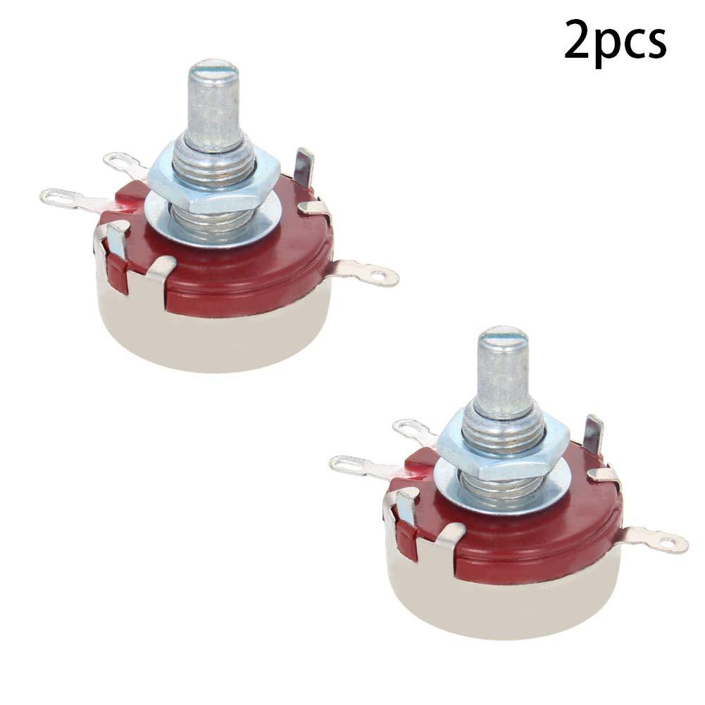Fielect 2Pcs 10K 4Pins Trim Pot Trimmer Potentiometer Resistor Kit Carbon Film Universal Single Unit Potentiometer WTH118 10K