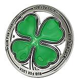 Buckle Rage Adult Mens Rub For Luck Shamrock 4 Leaf Clover Belt Buckle Green