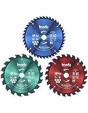 kwb 584699 cirkelsågblad set 160 x 25/20/16 mm för cirkelsåg BZW. Dragkåpa geringssåg, f. Tallriksmaterial och byggmaterial