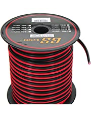 GS Power 12 Ga Gauge 100 feet CCA Copper Clad Aluminum Red/Black 2 Conductor Bonded Zip Cord Speaker Cable for Car Audio, Home Theater, LED Light, Model Train, Amplifier, Trailer Harness Wiring