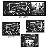 Customized Chalkboard Bride and Groom Wedding Sign, Wedding Banner, Yard Sign for Wedding, Reception Sign Party Supplies Set of 4