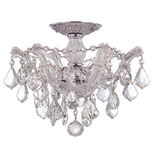 Crystorama 5505-PW-CL-SAQ, Mirabella Mini Swarovski Crystal Chandelier Lighting, 5LT, 300w, Pewter ()