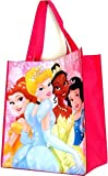 Disney Princesses Reusable Pink Tote Bag 14'x15' Grocery Size