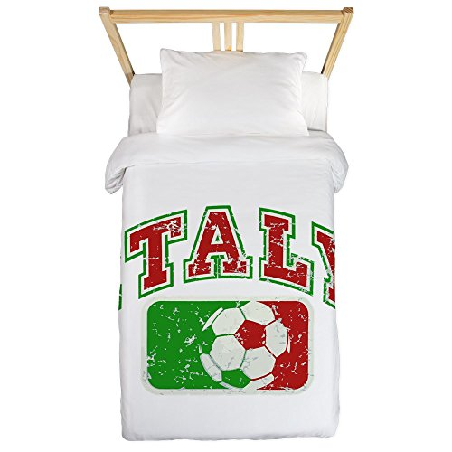 Twin Duvet Cover Italy Soccer Grunge Italian Flag by Royal Lion