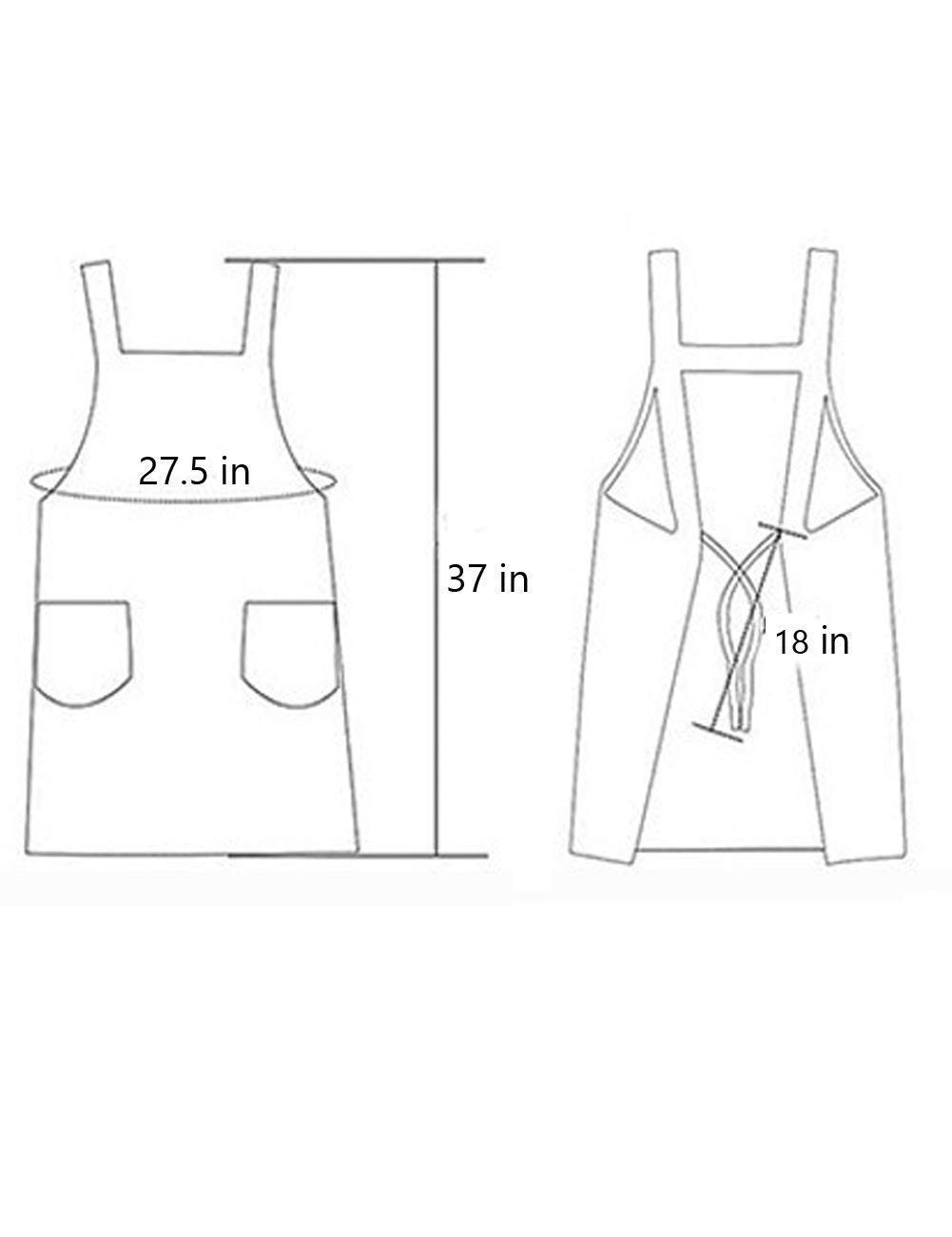 Cotton Personalized Bib Aprons with Pockets for Chef,Waitress,Grandma Suitable for Baking,Grilling,Painting Even Fit for Arts,Holiday Print Black Plaid Kinsley Cute Cooking Apron for Women