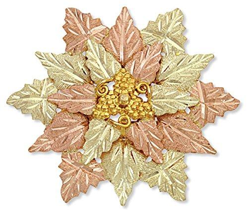 Landstroms 10K Black Hills Gold Flower Brooch/Pendant with 10K Gold Grapes and 12K ()