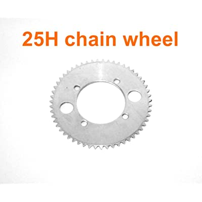 L-faster Electric Motorcycle Replacement Sprocket for 25H Chain Electric Scooter Dirt Bike Spare Chain Wheel for 50CC 2 Stroke Chainwheel : Sports & Outdoors