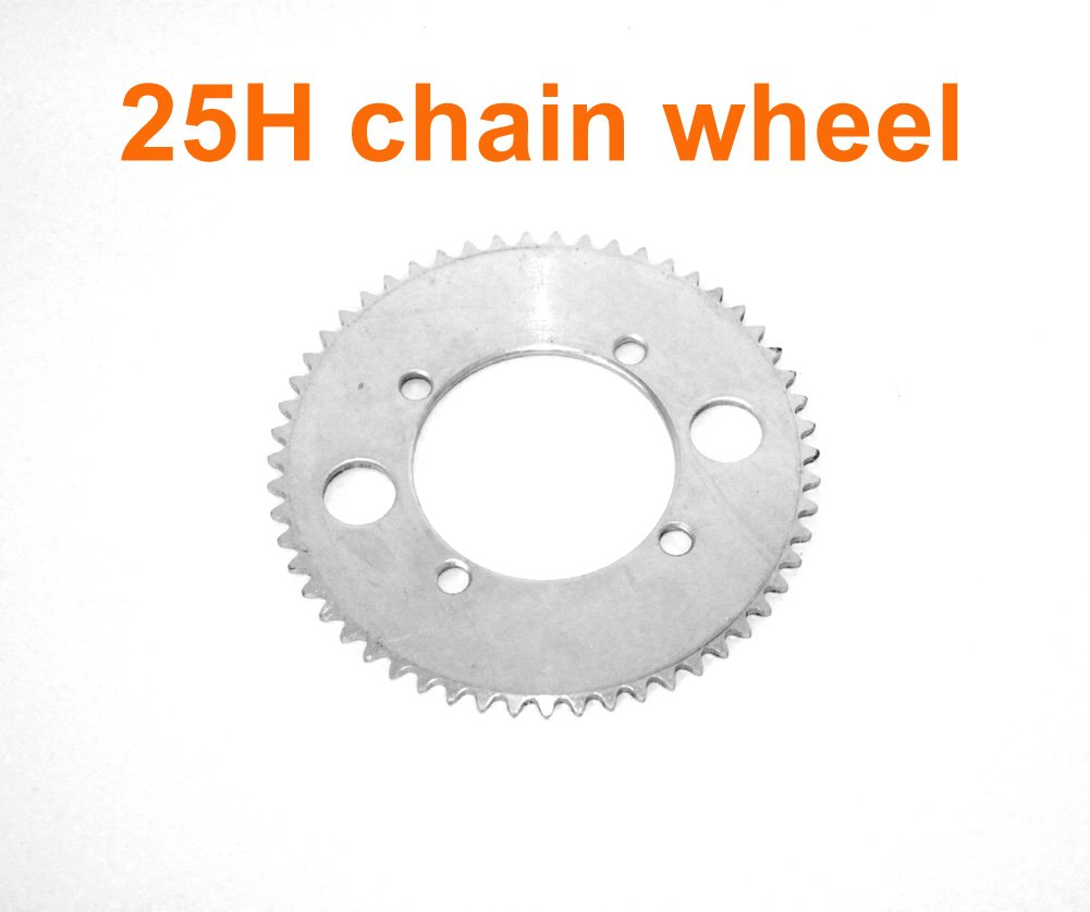 Electric Motorcycle Replacement Sprocket For 25H Chain Electric Scooter Dirt Bike Spare Chain Wheel For 50CC 2 Stroke Chainwheel (55T)