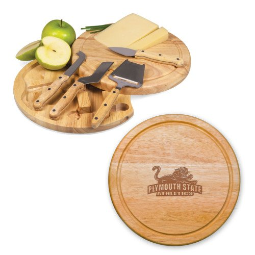- CollegeFanGear Plymouth State 10.2 Inch Circo Cheese Board Set 'Primary Mark Engraved'