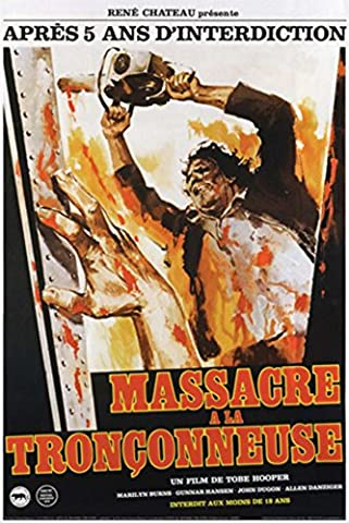 Texas Chainsaw Massacre French Poster 24 x 36in (Classic Scary Movie Posters)