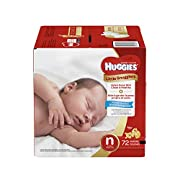 Huggies Little Snugglers Baby Diapers, Size Newborn, 72 Count, JUMBO PACK (Packaging may Vary)