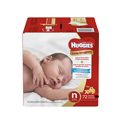 Huggies Little Snugglers Baby Diapers, Size Newborn, 72 Count, JUMBO PACK (Packaging may Vary) -