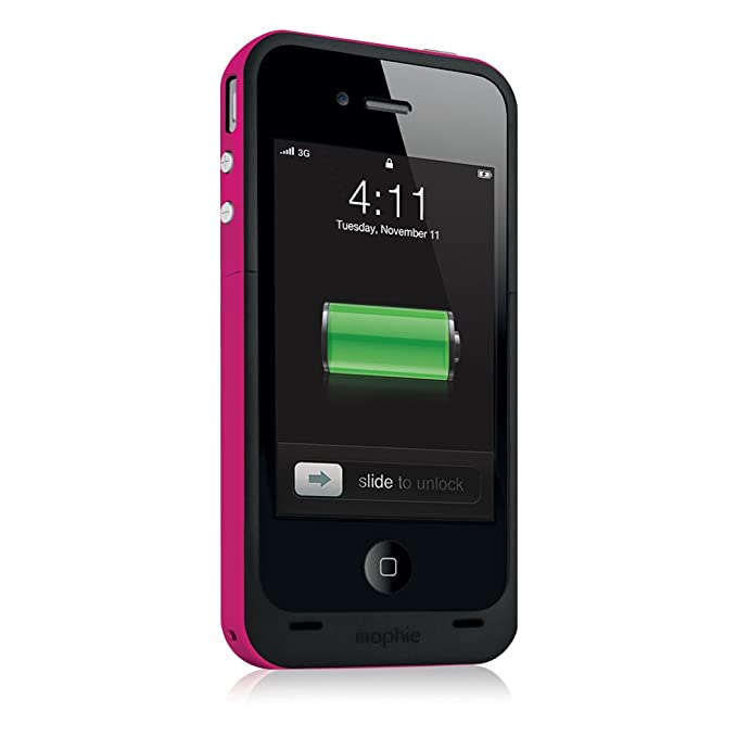 check out 040e2 46e68 mophie juice pack Plus for iPhone 4/4S (2,000mAh) - Magenta
