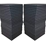 48 Pack - Acoustic Panels Studio Soundproofing Foam Wedge tiles 1'x12'x12' 100% Made in USA