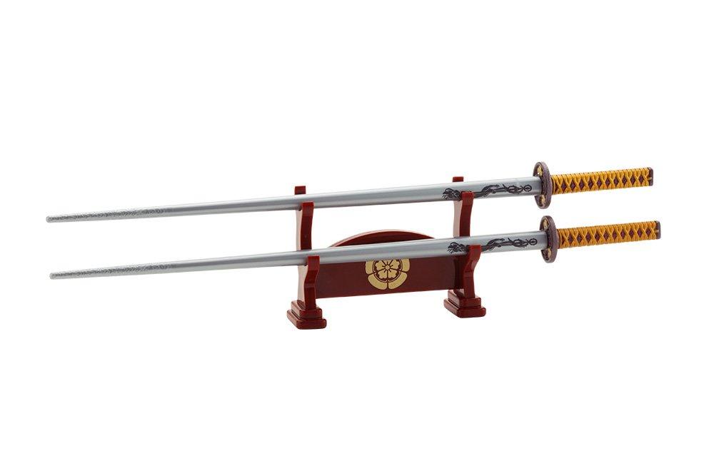 Japanese Samurai Katana Chopsticks - Three Heros (Nobunaga Oda) / with a sword stool type chopstick rest