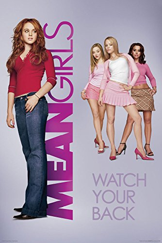 Mean Girls One Sheet Watch Your Back Teen Comedy Movie Film Print (Unframed 24x36 Poster) ()