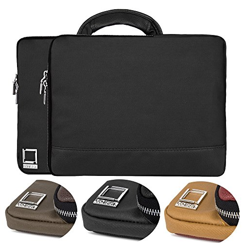 Airport Card G4 (Vegan Twill Canvas Carrying Sleeve [Onyx Black] with Handle For Acer Chromebook 11 G4 (11.6