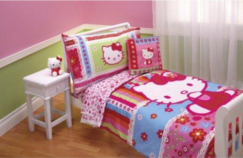 - Hello Kitty 4pc Toddler Bedding Set