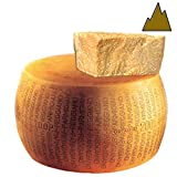 Parmigiano Reggiano PDO from hill, Whole wheel, seasoned 24 months, weighing.- 86 lbs