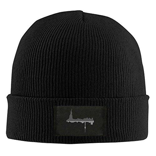 New York City Winter Warm Knit Hats Skull Caps Soft Cuff Beanie Hat Unisex (New Top Hat York)
