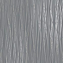 Non-Woven Modern Wallpaper, Print Embossed Classic Plain Stripe Moonlight Forest Wallpaper For Livingroom Bedroom, Silver Grey (20.8In x 32.8Ft)