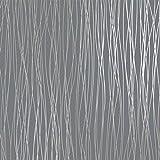 Non Woven Modern Wallpaper Print Embossed Classic Plain Stripe Moonlight Forest For Livingroom